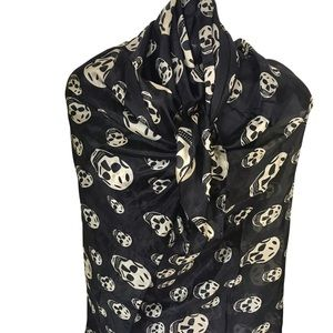 100% Silk Oversized Sculls Scarf Shawl Wrap Flowy Bathing Suite Cover Silky Face